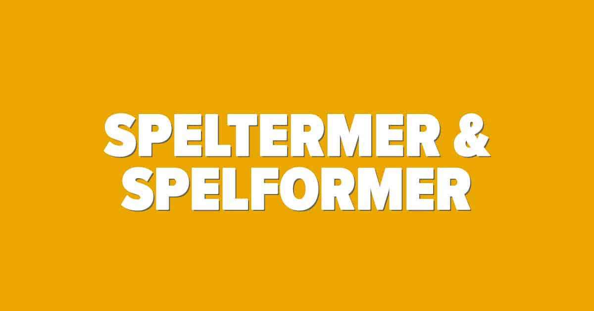 speltermer & Spelformer bild